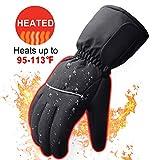 Svpro Gants chauffants à piles pour hommes et femmes, gants chauffants imperméables à l'eau et électriquement isolés pour le camping d'hiver en plein air, la chasse de randonnée (batterie non incluse)