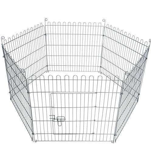 8-teiliges Freilaufgehege verzinkt mit Netz und Tür Ø ca. 204 cm - 5