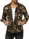 Red Bridge Herren Jacke Urgent Duty Camouflage Militär Übergangsjacke Khaki