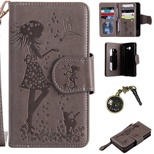 Preisvergleich Produktbild PU Abdeckungs-Fall Smartphone Samsung Galaxy J52017PU-Mappe Kasten Schutzhülle Geldbörse , Kreditkartenschlitz (Schlitz 9), Silikon Schutzhülle Handyhülle Painted zum Schutz + Staubkappe (7)