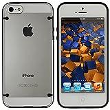 mumbi DUAL TPU Hardcase Hülle iPhone SE 5 5S Schutzhülle (harte Rückseite) schwarz