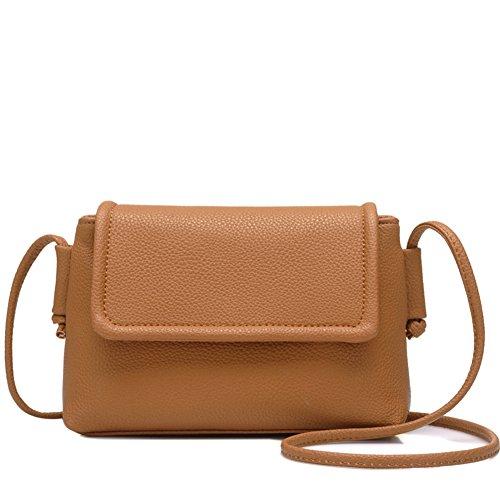 Puro Colore Fashion Messenger Bag/Morbida Pelle Semplice Borsa A Tracolla-A F