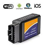 Auto-WIFI OBD2 Scan-Werkzeug, ELM327 drahtlose Fahrzeug-Code-Fehler-Leser-Scanner-Adapter-Selbstüberprüfungs-Maschinen-Licht-freies Rückstellen OBDII Diagnosewerkzeug für iPhone IOS Android Windows Apple für alle Auto