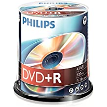 Philips DVD+R, 16x, 100 pièces, 4,7GB