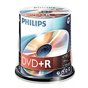 Philips DVD+R, 16x, 100 pièces, 4,7GB
