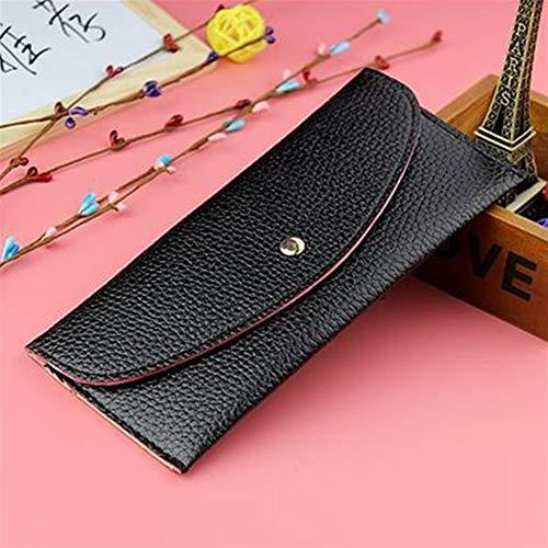 Frauen Lange Ultra-dünne Candy Farbe Wallet Card Package Envelope Bag (schwarz) Schultertasche (Candy Wallet)