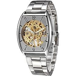 Alienwork IK Automatic Watch Self-winding Skeleton Mechanical engraved Metal silver silver 98024G-03