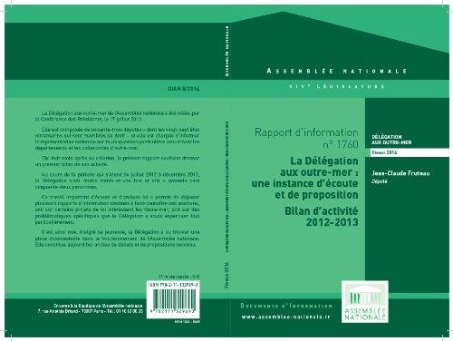 Couverture du livre Rapport d'information de la délégation aux outre-mer d'activité fait au nom de la Délégation aux outre-mer (juillet 2012 - décembre 2013)