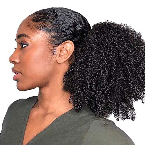 Afro Puff Synthetic Curly Hair Pferdeschwanz Afroamerikaner Kurz Afro Kinky Curly Wrap Synthetische Kordelzug Puff Pferdeschwanz Haarverlängerung Perücke Bun Wrap