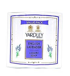 Yardley English Lavender Luxury Soap, 100g (Pack of 4)