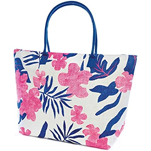 Bolsa de verano/de playa con estampado de flores y hojas para mujer
