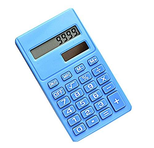 Kreative Mini Solar Power Card Tragbarer Taschenrechner Blau