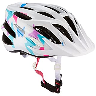 Alpina Unisex Child FB 2.0 Helmet - White Butterfly, Size 51 - 55