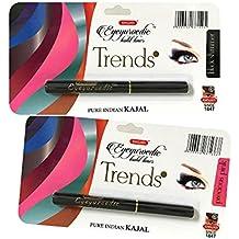 COMBO - K-Veda Eyeyurvedic Kohl Liner Trendz Black Shimmer + Precious Pink, Pure Indian Kajal