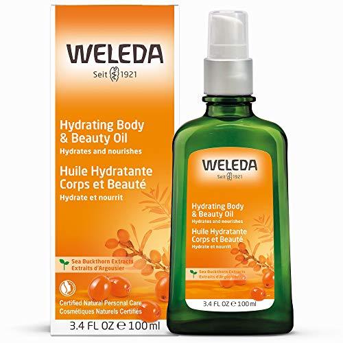 WELEDA Sanddorn Vitalisierendes Pflege-Öl, Naturkosmetik Körperöl für die intensive Pflege von trockener Haut, Body Öl für spürbare Glätte und Erholung der Haut (1 x 100 ml) -