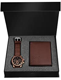LORENZ Brown Watch and Wallet Combo for Men