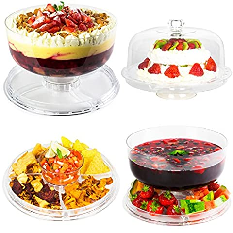 Andrew James Cake Stand 4 in 1 Acrylic Display with