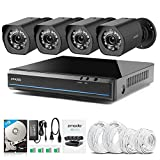 Zmodo 720P HD 4 IP Camera NVR Security Camera Video Surveillance System with 1TB