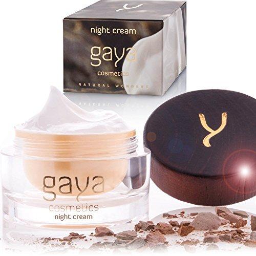 Gaya Cosmetics Anti Aging Nachtcreme - Vegane Feuchtigkeitscreme für Nährende & Straffende Pflege & ein natürlich strahlendes Gesicht -