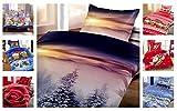Winter Kuschel Flausch Fleece Bettwäsche Weihnachten Designs, Winterhills 2x 135x200 + 2x 80x80