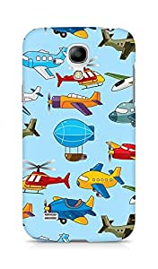 Amez designer printed 3d premium high quality back case cover for Samsung Galaxy S4 Mini (Helicopter airship plane texture)