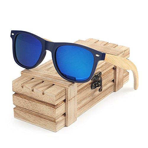 SLONGK beschichtete Sonnenbrille Männer und Frauen Bambus Holz Halter polarisiert
