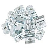 20 stücke T Muttern M4 M5 M6 M8 T8 Nut Hammer Verzinktem Kohlenstoffstahl Befestigungsmuttern Aluminium Profil(M6)