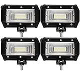 ALPHA DIMA Leetop 4X 72W 36W 120W 180W LED Arbeitsscheinwerfer Off-Road Scheinwerfer Bar Fernlicht 12V-24V Reflektor Lampen IP67 Wasserdicht Zusatzscheinwerfer Flutlicht für Auto Jeep Traktor SUV(72W-A)