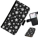 Hairyworm- Sterne LG G5 SE ( LG G5 Lite, H840, H845, ) Leder Klapphülle Etui Handy Tasche, Deckel mit Kartenfächern, Geldscheinfach und Magnetverschluss.