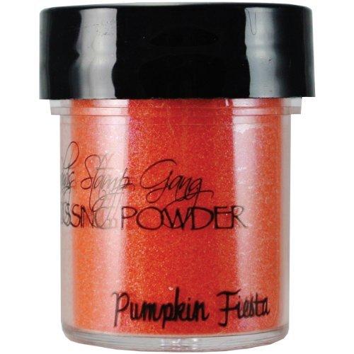 Lindy's Stamp Gang 2-Tone Embossing Powder, 0.5-Ounce Jar, Pumpkin Fiesta