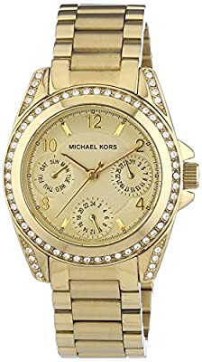 Michael Kors Multifunktion MK5639 de cuarzo para mujer, correa de acero inoxidable chapado color dorado (agujas luminiscentes)