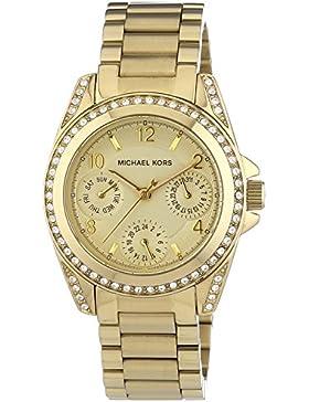 Michael Kors Damen-Armbanduhr XS Multifunktion Analog Quarz Edelstahl beschichtet MK5639