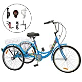Best Adult Tricycles - Barbella Single and 7 Speed Adult Tricycle Three-Wheeled Review