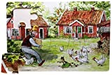 Puzzle Petterssons Hof, Pettersson und Findus, 104 teilig