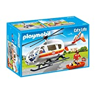 Playmobil - City Live Emergency Medical Helicopter, Multicolour (6686)