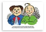 Póster de Max y Moritz en DIN A3de papel reciclado vom schnurverlag