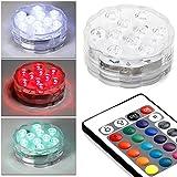 Mbuynow® RGB LED Unterwasserlicht Farbwechsel Hochzeit Party Vase Deko Wasserdicht mit Fernbedienung Lampe