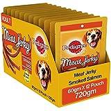 Pedigree Meat Jerky Stix Adult  Dog Treat, Smoked Salmon, 12 Packs (12 x 60g)