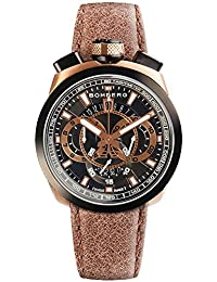 BOMBERG BOLT 68 HOMME 45MM BRACELET CUIR MARRON QUARTZ MONTRE 45CHTT.017.3