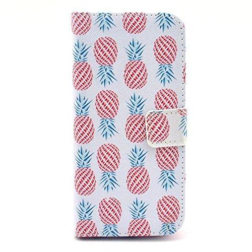 Aeontop 4 en 1 Custodia in pelle Protettiva Cuoio Portafoglio Flip Cover per Apple iPhone 6 4.7 con chiusura magnetica e funzione di supporto , Pellicola di Protezione e dello stilo Incluse , Modello modello 16