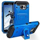 Galaxy S7 Hülle, BEZ™ [Heavy Duty Serie] Outdoor Dual Layer Armor Case [Stoßfestes Etui] [Blau] Handy Schutzhülle [Shockproof] robuste Hülle für Samsung Galaxy S7