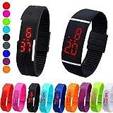 GKP Products Silicone LED Digital Silicone Digital LED Bracelet Band Wrist Watch Model