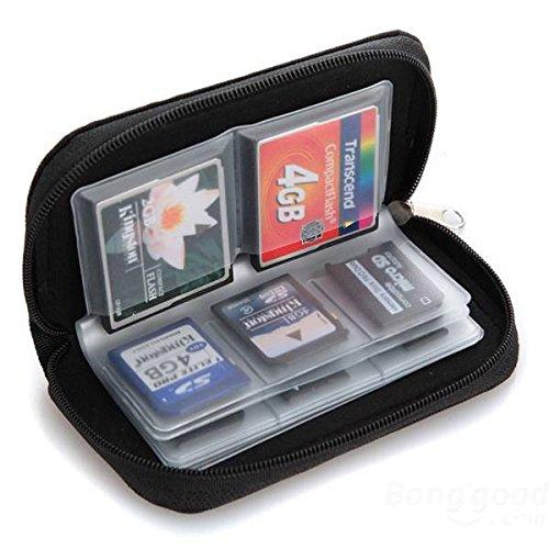 Tongshi Tarjeta de memoria de almacenamiento caja de la carpeta del sostenedor del bolso Micro SD Mini 22 Slots teléfono con
