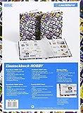 Briefmarken Einsteckbuch HOBBY, 16 weiße Seiten, Einband mit Breifmarkenmotiven, DIN A 4 - 2