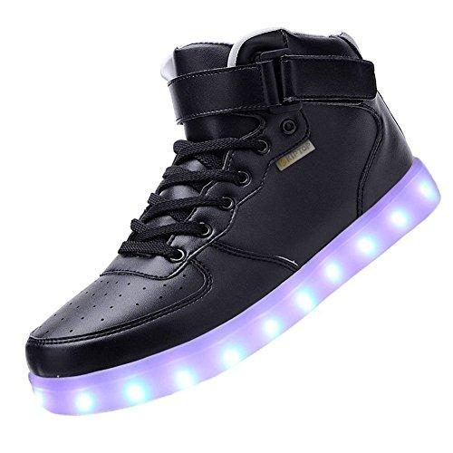 3c06cb167528 COOLER Unisex 7 Farbe Farbwechsel USB Aufladen LED Leuchtend High-top Sport  Schuhe Hoch Sneaker