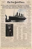 - La une du the new york times sur le titanic newspaper new york times film poster 61 x 91,5 cm