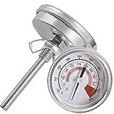 57mm Zeigerthermometer Bimetall Thermometer 300°C 600°F -