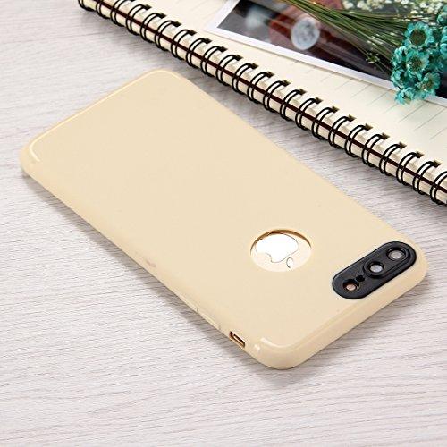 Hülle für iPhone 7 plus , Schutzhülle Für IPhone 7 Plus Ultra-dünne TPU matt geschützte rückseitige Abdeckungs-Fall ,hülle für iPhone 7 plus , case for iphone 7 plus ( Color : Pink ) Apricot