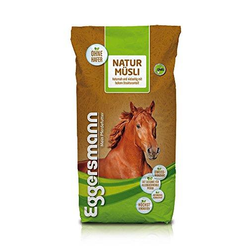 Eggersmann Natur Müsli - Naturnahes Pferdemüsli ohne künstliche Zusatzstoffe für allergiesensible Pferde - 20 kg Sack -