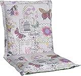 Gartenstuhlauflage Sitzkissen Polster Stuhlkissen für Niedriglehner in beige violett rosa